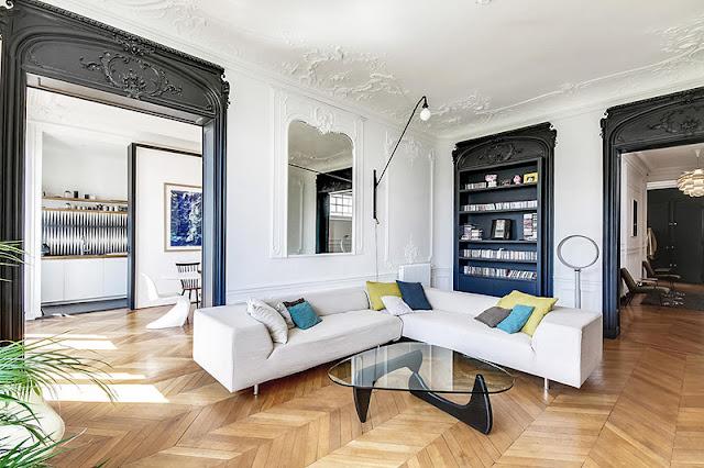 Un appartement haussmannien moderne et design blog d co - Appartement moderne design nasciturus ...