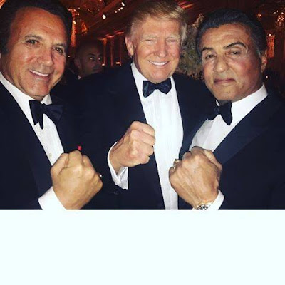 New Photo! President elect Trump, Sylvester Stallone and his Brother.