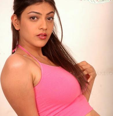 Kajal agarwal sensational hot pink dress images