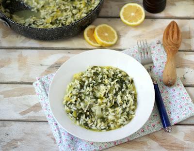 risotto al limone con spinaci