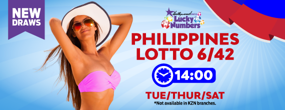 Philippines 6/42 Lotto - Lucky Numbers - Hollywoodbets - Tuesday, Thursday, Saturday - 14:00 - New Draw - Beautiful Girl - Bikini