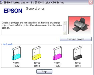 General Error printer epson