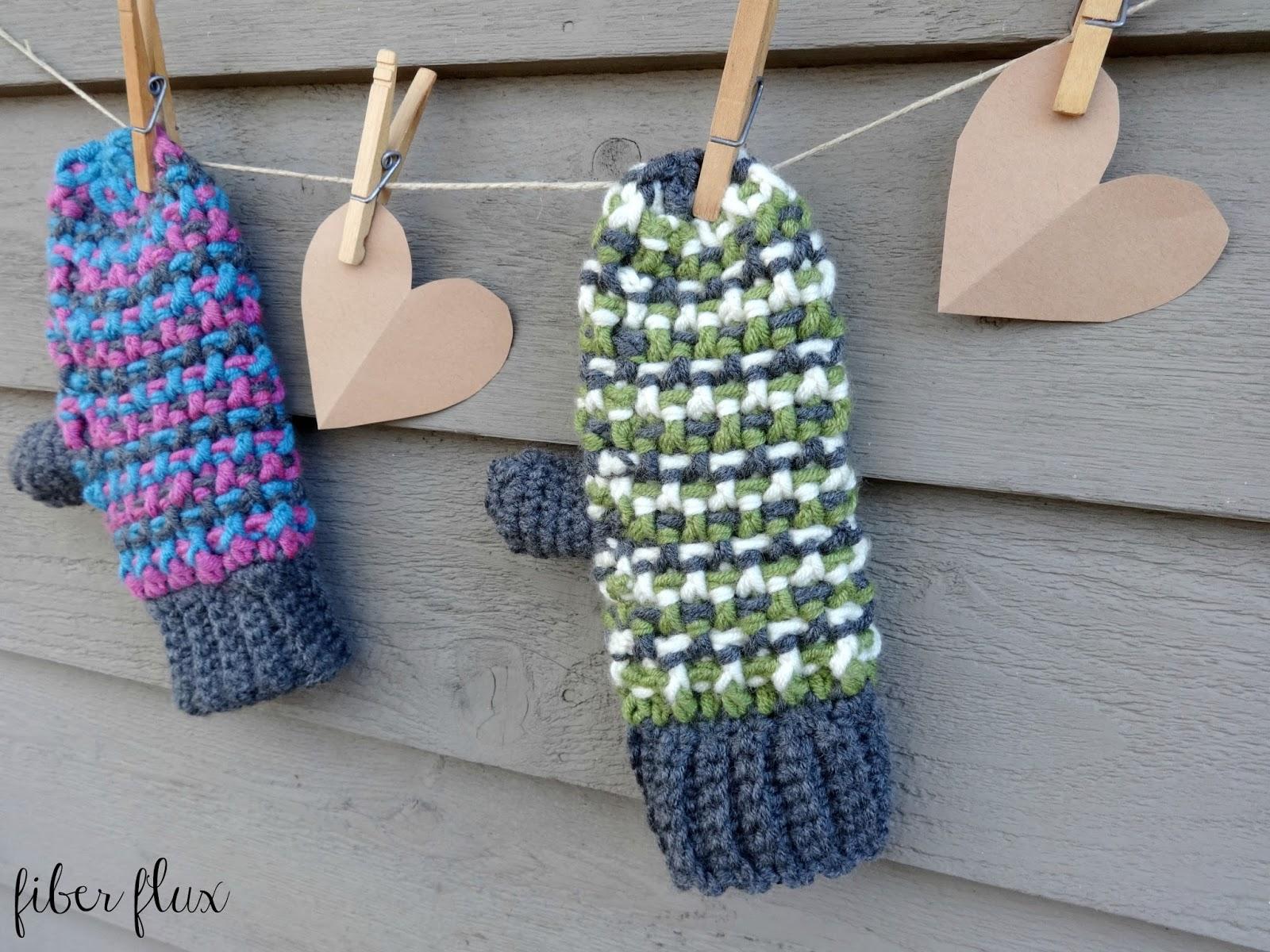 Fiber Flux: Free Crochet Pattern...Sleigh Ride Mittens!