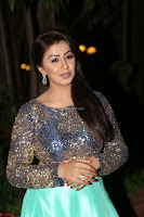 Nikki Galrani in Green Skirt  Top at Marakathamani music launch ~  Exclusive (79).JPG