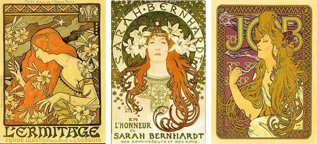 Art Nouveau Style Graphic Design