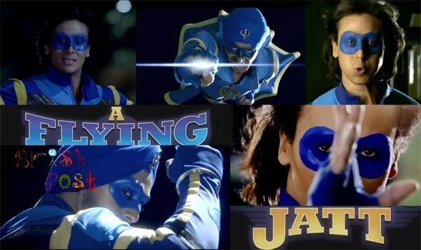 A Flying Jatt Tiger Shroff dress blue costume
