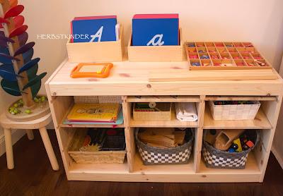 Spielregal nach Montessori