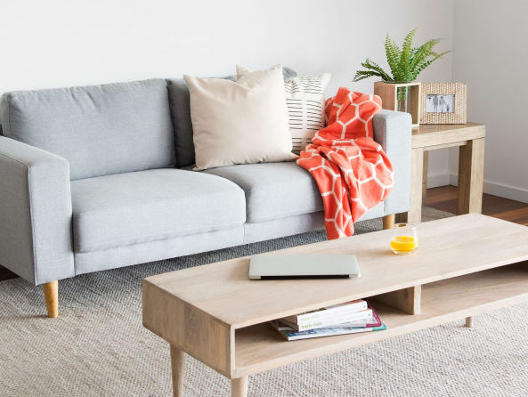 Any light neutral colour will help make a space look bigger