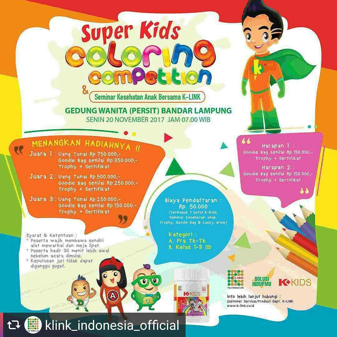 Kids Coloring Competition Seminar Kesehatan Bersama K Link