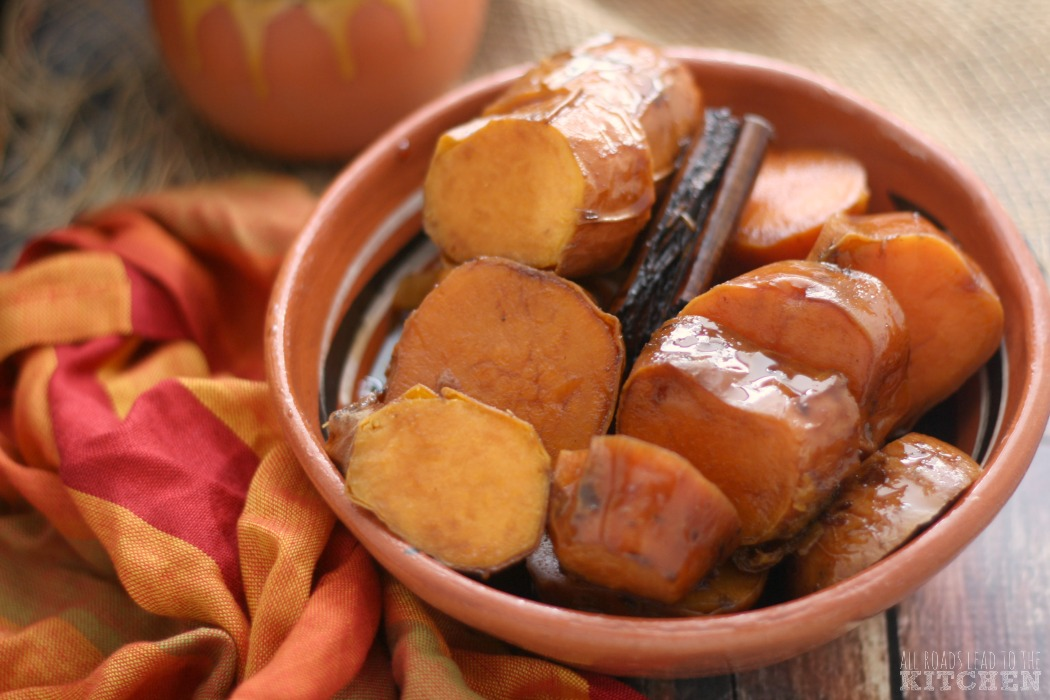Camotes Enmielados (Mexican Candied Sweet Potatoes) | #SheMadeEllaHace