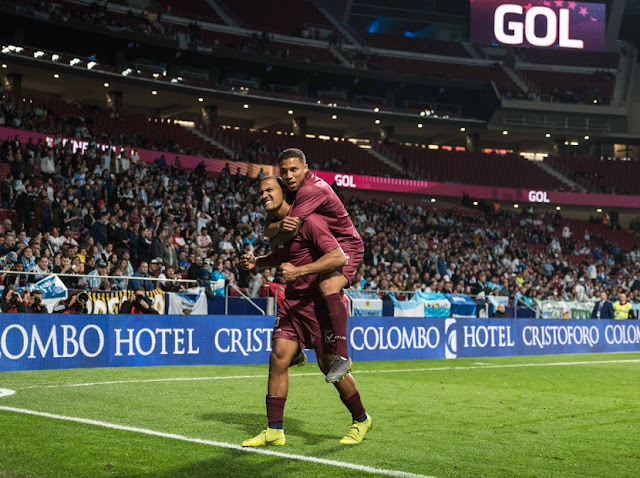 DEPORTE: La Vinotinto venció a la Argentina de Messi 3-1 en el Metropolitano de Madrid.