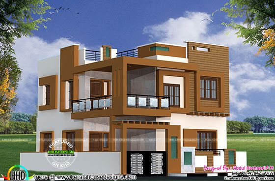 Modern house side iew