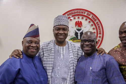 Saraki Reconciles Adeleke & Ogunbiyi As They Sign Agreement Ahead Of Osun Guber Elections