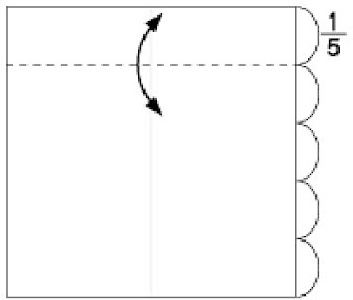 Bước 2: Gấp tạo nếp gấp tờ giấy