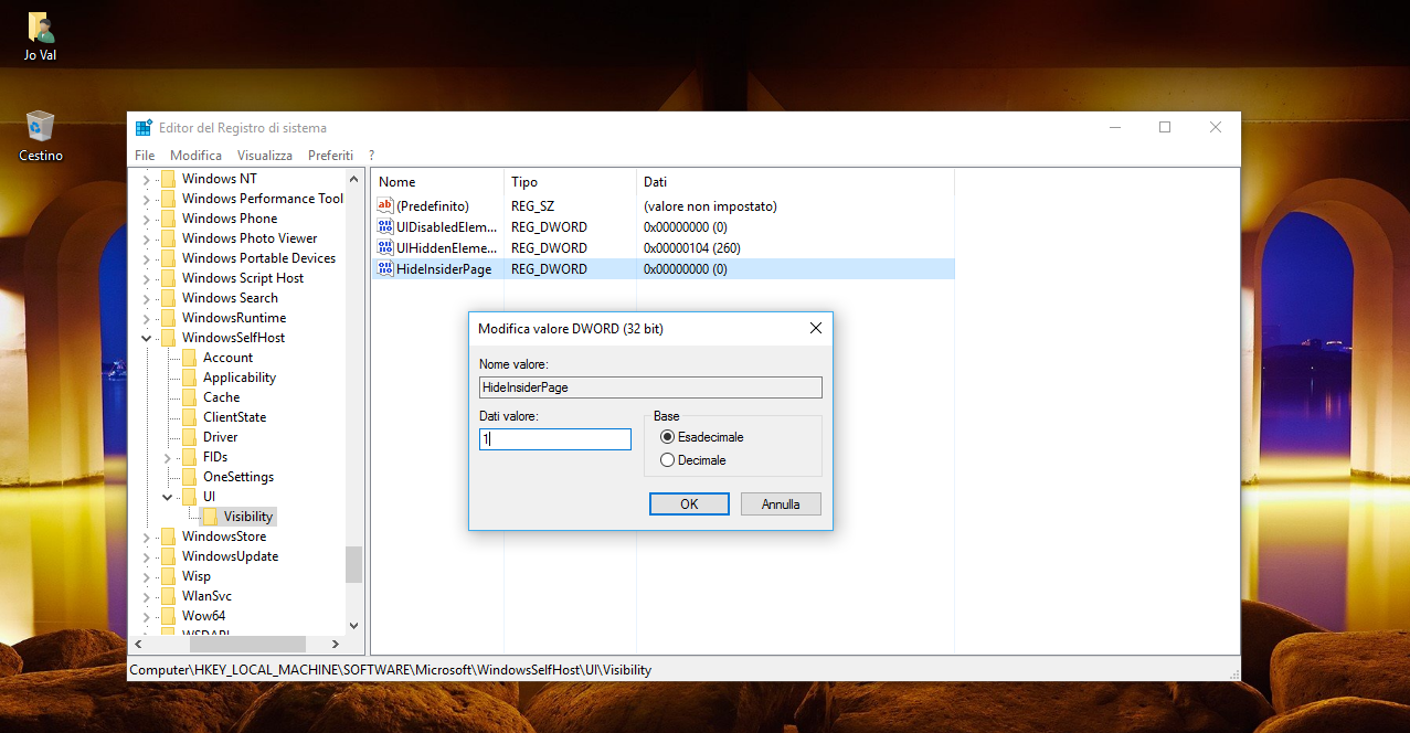 """Come rimuovere la voce """"Programma Windows Insider"""" nelle Impostazioni di Windows 10 3 HTNovo"""