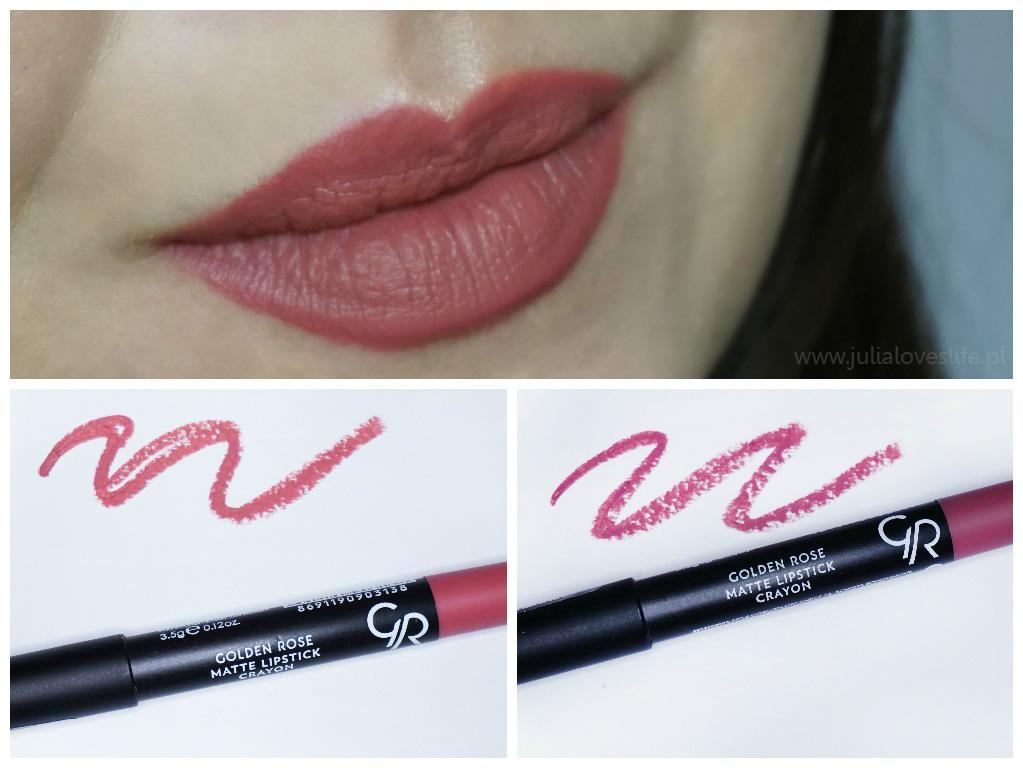 Golden Rose Matte Lipstick Crayon recenzja