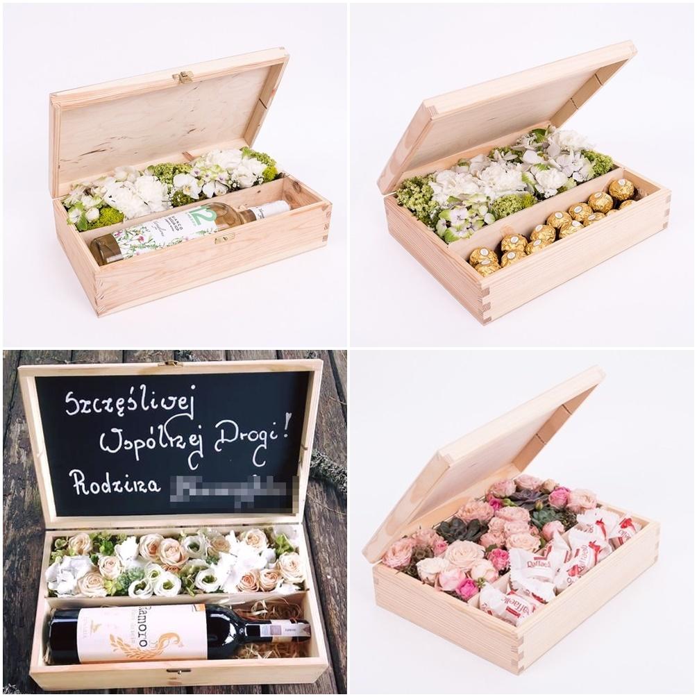 Ecoflowerbox kwiaty w pudełku