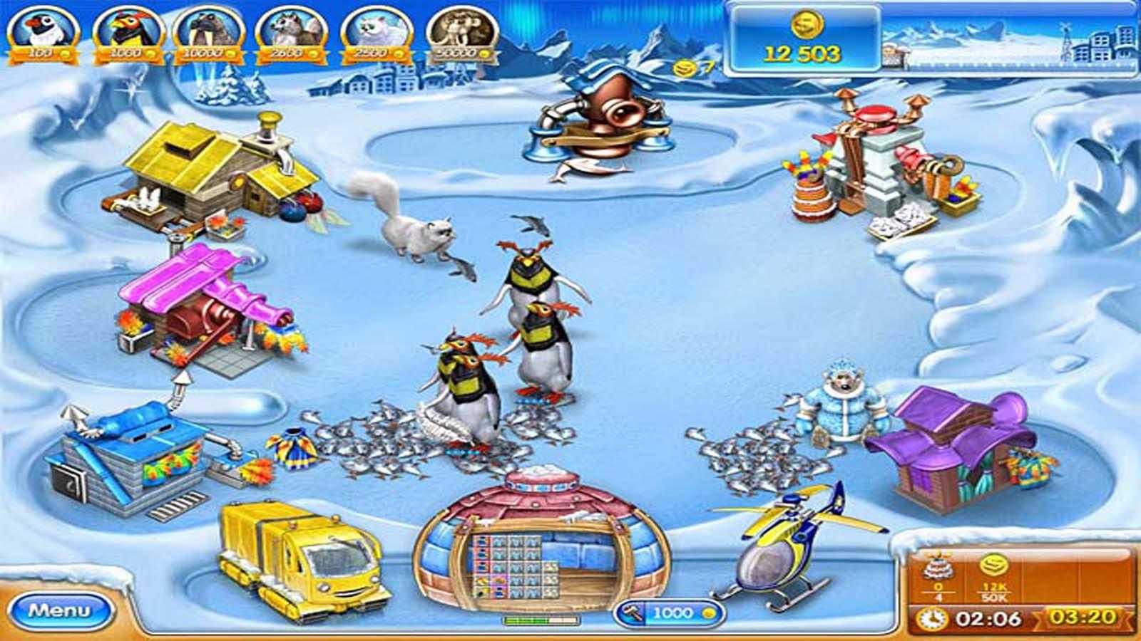 تحميل لعبة Farm Frenzy 3 Ice Age مضغوطة برابط واحد مباشر كاملة مجانا