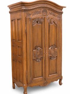 Lemari kayu minimalis 2 pintu