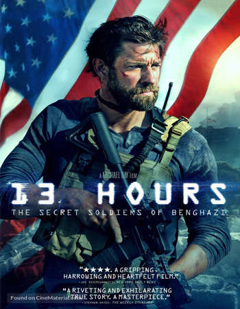 Poster Of 13 Hours 2016 Dual Audio 400MB BRRip 480p ESubs Free Download Watch Online Worldfree4u