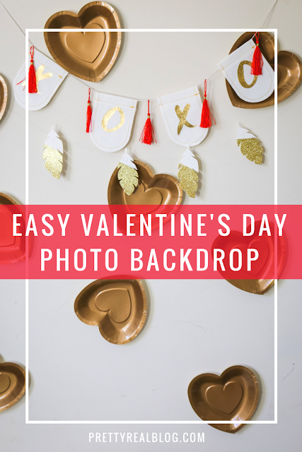easy valentine's day party photo backdrop