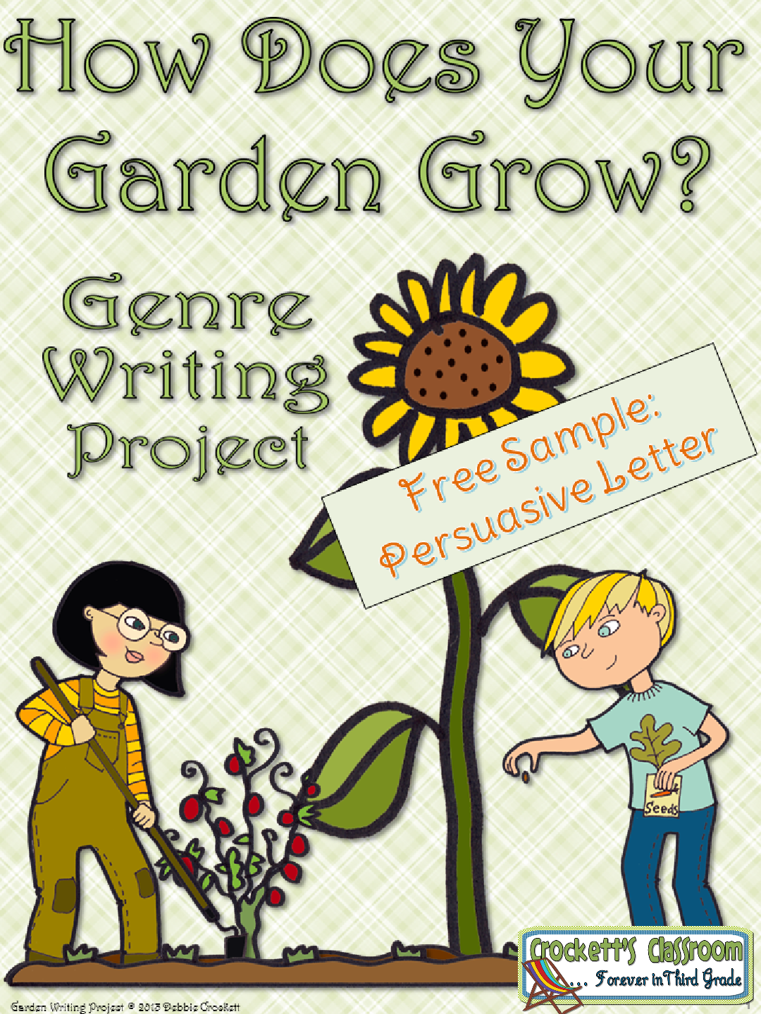 Spring Garden Writing Freebie