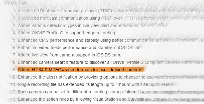 Adding RTSP stream in Synology Surveillance Station got