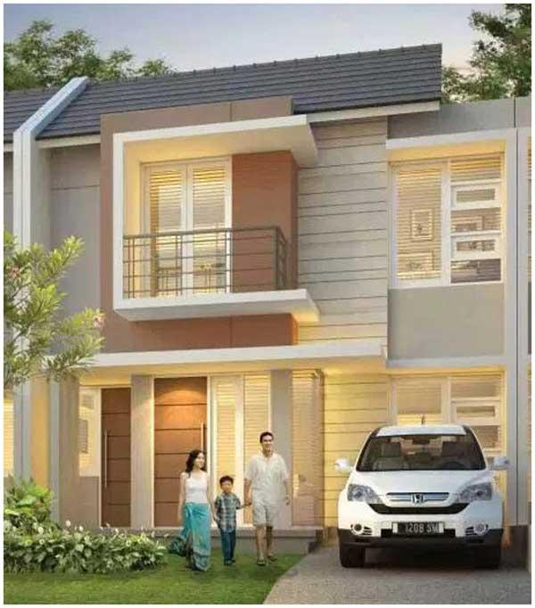 desain rumah minimalis 2 lantai sederhana type 36