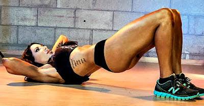 Cola grande elevación cadera rutina ejercicio