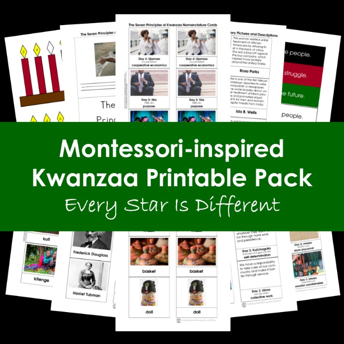 Montessori-inspired Kwanzaa Printable Pack