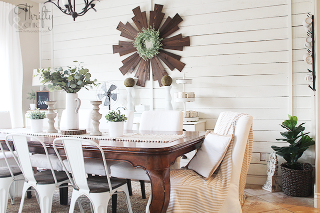 Farmhouse Dining Room Decor And Decorating Ideas Spring Tablescape
