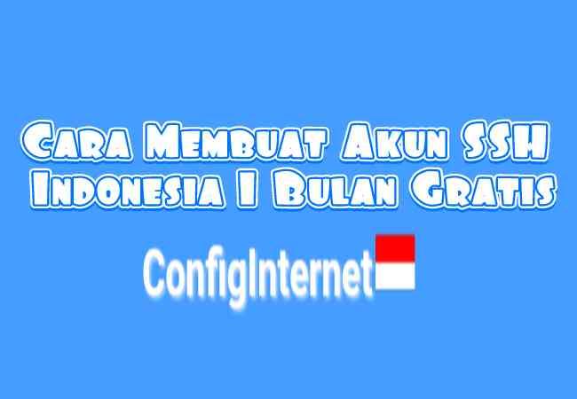 Cara Membuat / Daftar Akun SSH SSL Indonesia 1 Bulan Gratis Di Configinter.net Terbaru