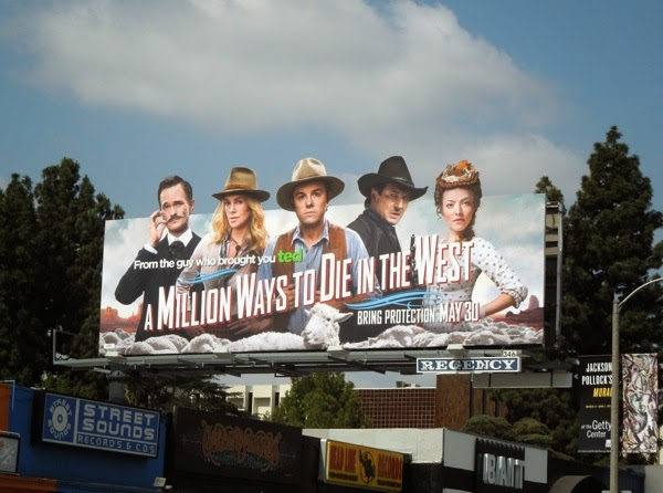 A Million Ways to Die in the West film billboard