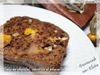 Cake au chocolat, noisettes et physallis