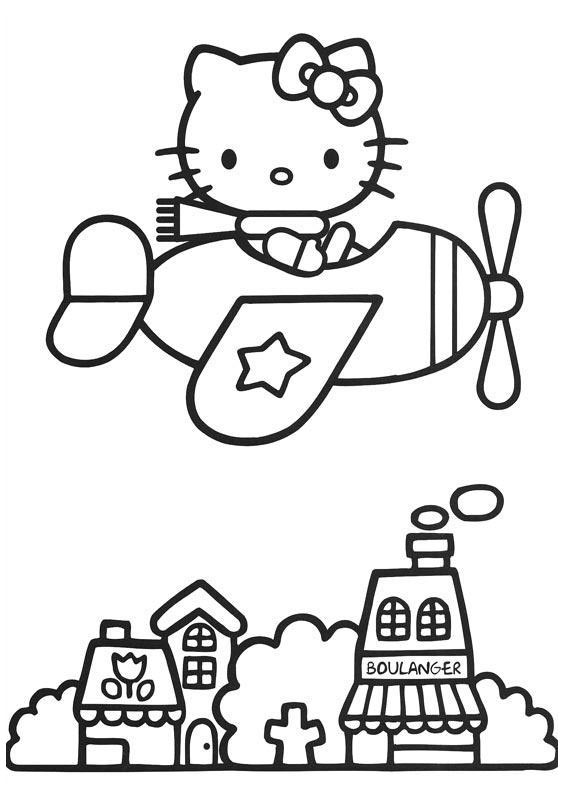 smart hello kitty coloring pages-#2