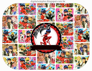Miraculous  Ladybug Free Printable  Labels.