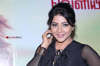 Actress Sakshi Agarwal Stills in Floral Short Skirt at Jaikira Kuthira Audio Launch  0005.jpg