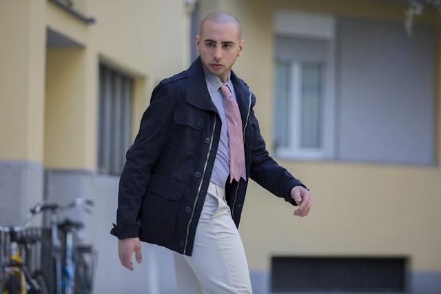 look primaverile uomo elegante