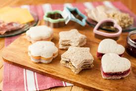 Kids Sandwiches in Shapes made from cookie cutters