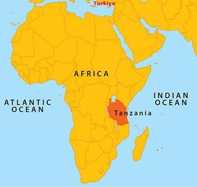 Tanzanya Nerede Harita