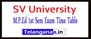 SV University M.P.Ed 1st Sem Exam Time Table 2017