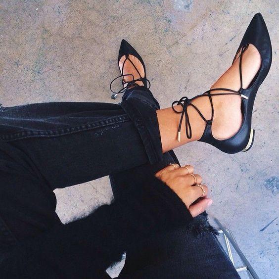 Look  elegante usando flats - Dica de moda Cris Felix