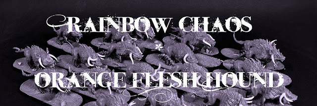 Rainbow Chaos - Orange Flesh Hound