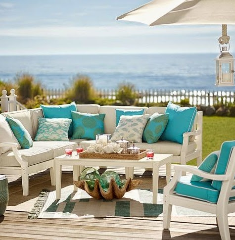 Pottery Barn outdoor coastal living
