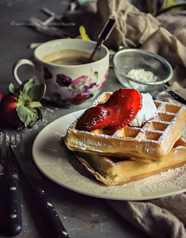 Simple Belgian Waffles #breakfast #food #recipe #foodie