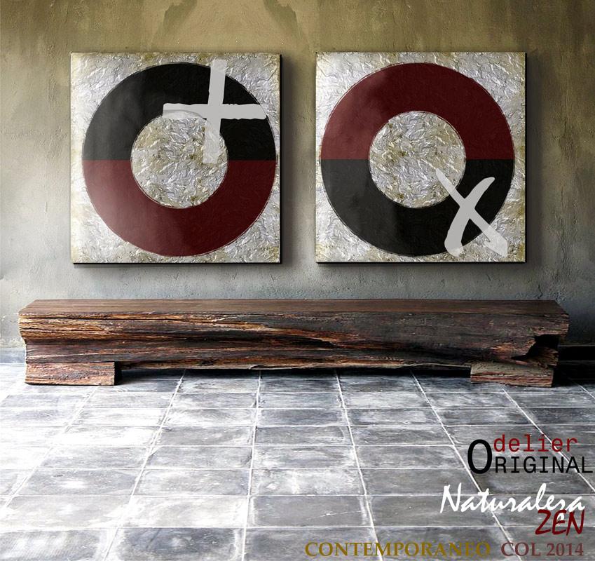 Sensaciones de hogar decorar con cuadros abstractos - Cuadros minimalistas modernos lo ultimo arte ...