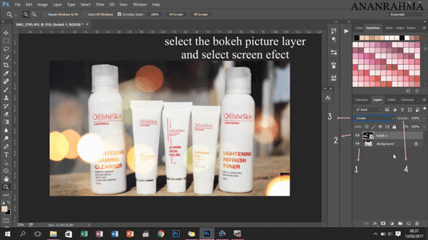 membuat efek bokeh dengan photoshop