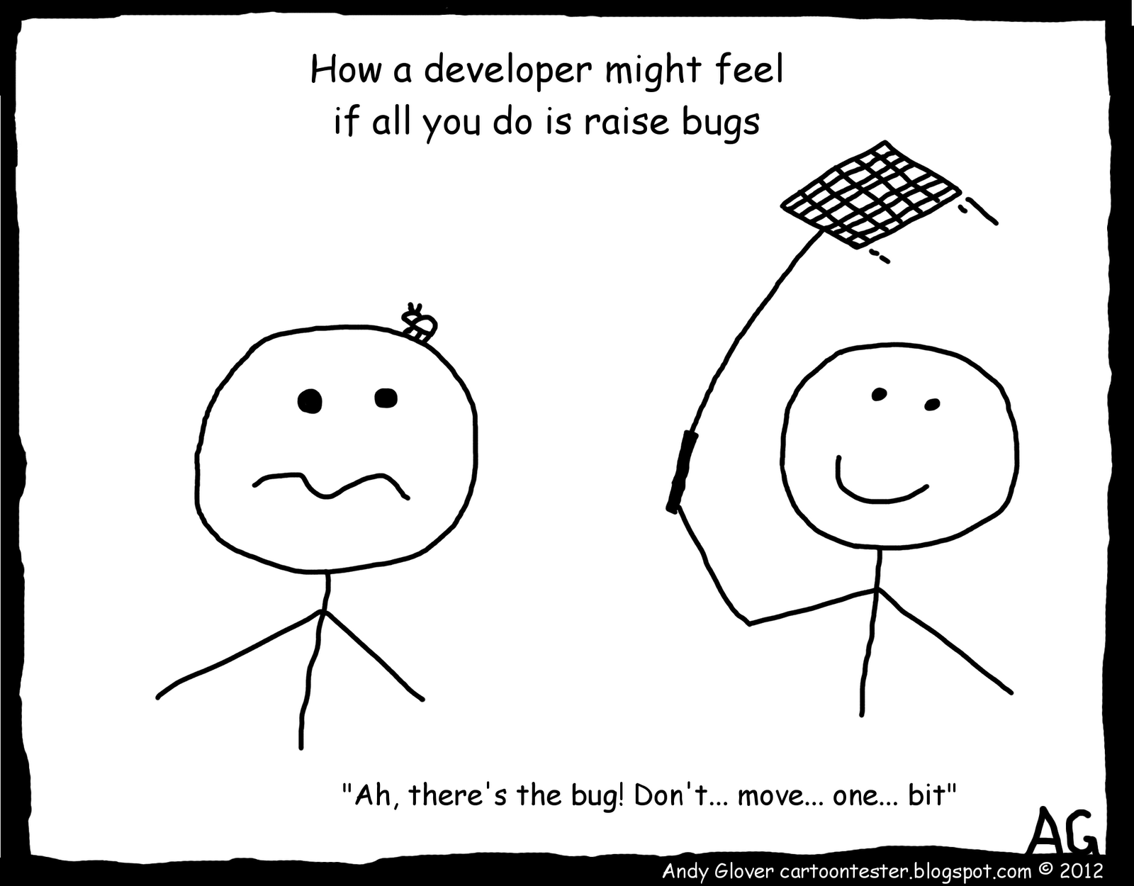Cartoon Tester How A Developer Feels
