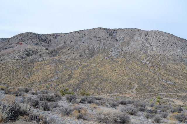 one side of Silver Peak with mines