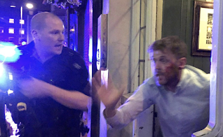 BOUNCER'S BRAVE CHARGE Doorman 'Saved Countless Lives' by pelting jihadis with bottles, Glasses And Bar Stools And Driving Them Into Gun Cops' Sights